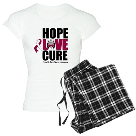 Head Neck Cancer Hope Women's Light Pajamas