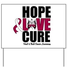 Head Neck Cancer Hope Yard Sign