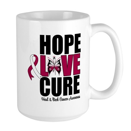 Head Neck Cancer Hope Large Mug