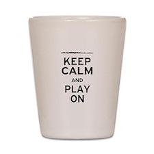 Keep Calm Flute Shot Glass