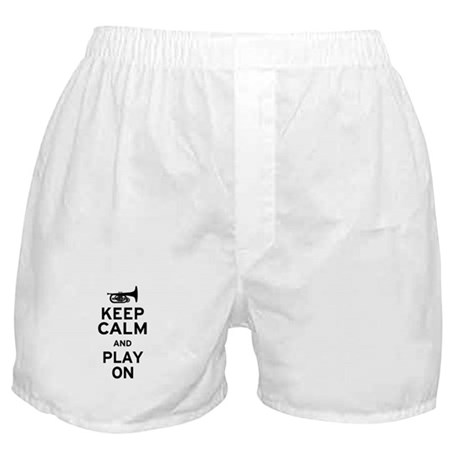 Keep Calm and Play On (Mellophone) Boxer Shorts