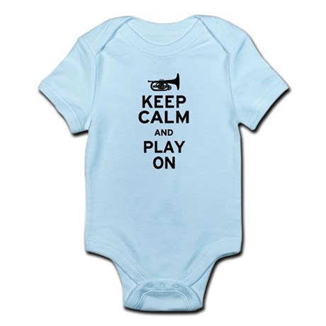 Keep Calm and Play On (Mellophone) Infant Bodysuit