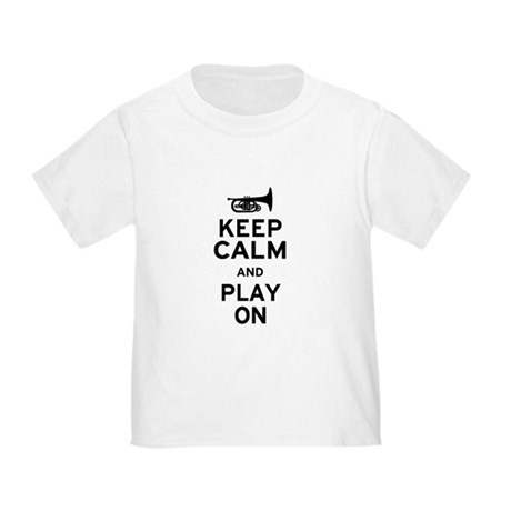 Keep Calm and Play On (Mellophone) Toddler T-Shirt