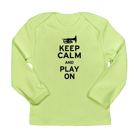 Keep Calm and Play On (Mellophone) Long Sleeve Inf