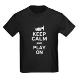 Keep Calm and Play On (Mellophone) T