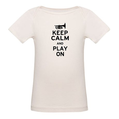 Keep Calm and Play On (Mellophone) Organic Baby T-