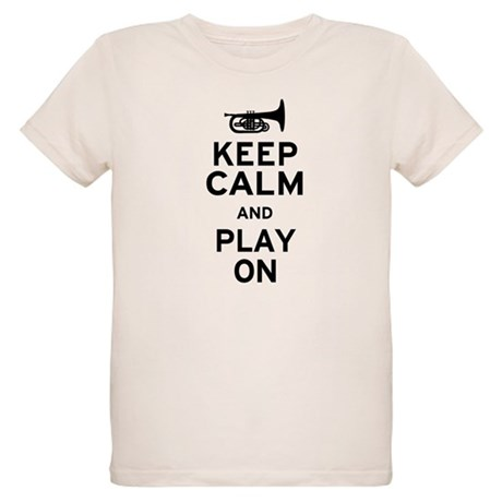 Keep Calm and Play On (Mellophone) Organic Kids T-