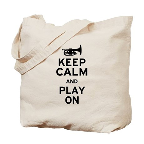 Keep Calm and Play On (Mellophone) Tote Bag