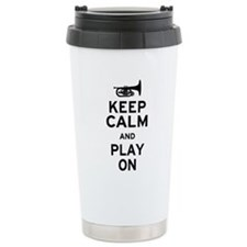 Keep Calm and Play On (Mellophone) Ceramic Travel