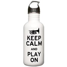 Keep Calm and Play On (Mellophone) Water Bottle