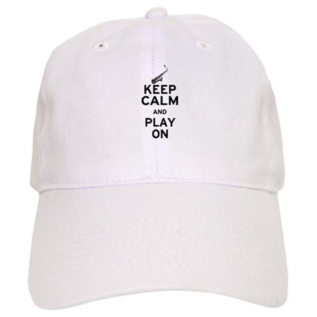 Keep Calm and Play On (Sax) Cap