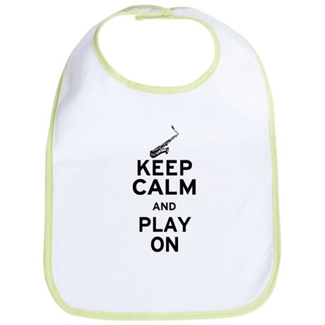 Keep Calm and Play On (Sax) Bib