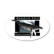 HumpBack Whale Art 38.5 x 24.5 Oval Wall Peel