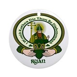 Ryan Clan Motto Ornament (Round)