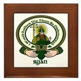 Ryan Clan Motto Framed Tile