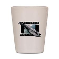 Blue Whale art Shot Glass