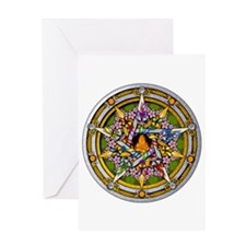 Beltane Pentacle Greeting Card