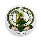 Sweeney Clan Motto Ornament (Round)