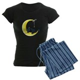 Black Kitty Lunar Love pajamas