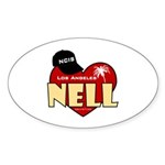 NCIS LA Nell Sticker (Oval 10 pk)