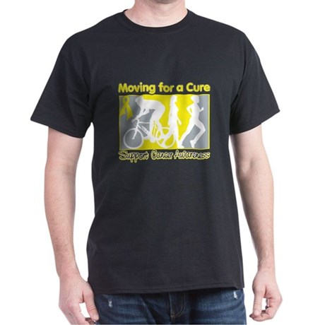 Bladder Cancer Moving Cure Dark T-Shirt