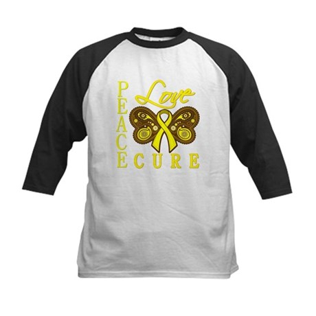 Bladder Cancer PeaceLoveCure Kids Baseball Jersey