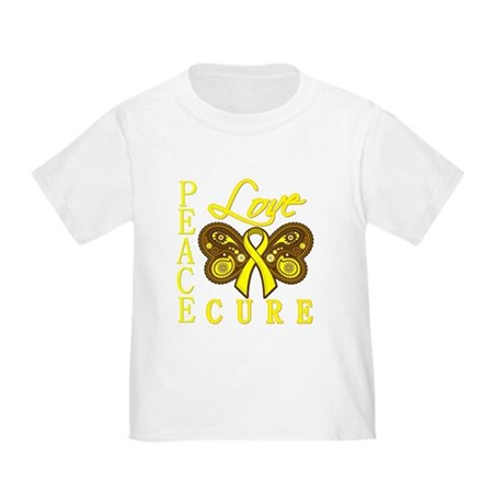 Bladder Cancer PeaceLoveCure Toddler T-Shirt