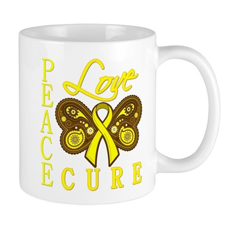 Bladder Cancer PeaceLoveCure Mug