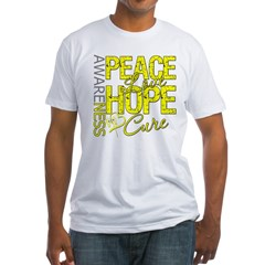 Bladder Cancer PeaceLoveHope Fitted T-Shirt