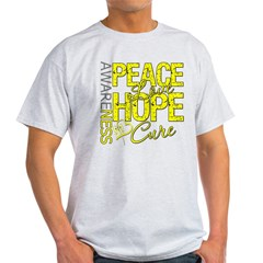 Bladder Cancer PeaceLoveHope Light T-Shirt
