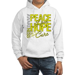 Bladder Cancer PeaceLoveHope Hooded Sweatshirt