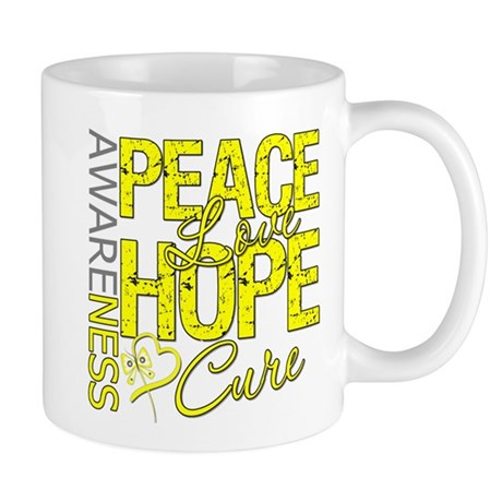 Bladder Cancer PeaceLoveHope Mug