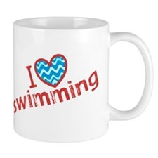 I heart (love) Swimming Mug