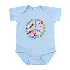 Flower Power Peace Sign Infant Bodysuit