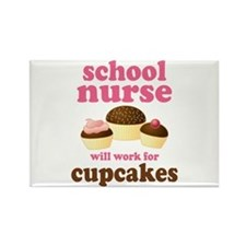 Funny School Nurse Rectangle Magnet