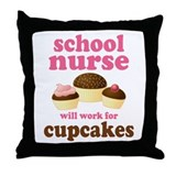 Funny School Nurse Throw Pillow