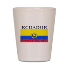 Ecuador Ecuadorian Flag Shot Glass