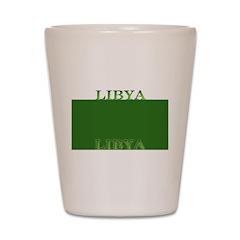 Libya Libyan Flag Shot Glass