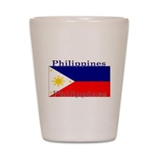 Philippines Filipino Flag Shot Glass