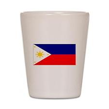 Filipino Pilipinas Blank Flag Shot Glass