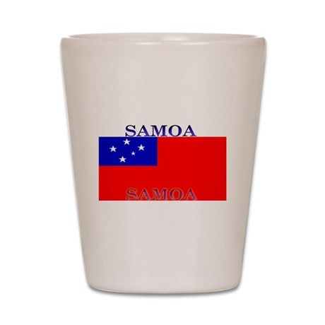Samoa Samoan Flag Shot Glass
