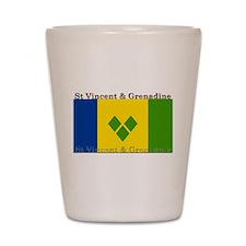 St Vincent & Grenadine Shot Glass