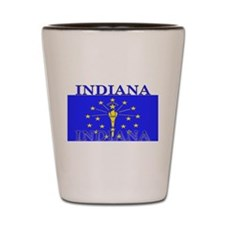 Indiana State Flag Shot Glass
