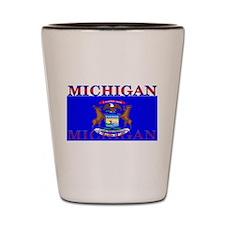 Michigan State Flag Shot Glass