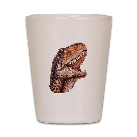 Fun Jurassic Dinosaur Head Shot Glass