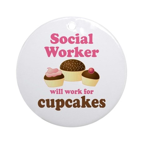 Funny Social Worker Ornament (Round)