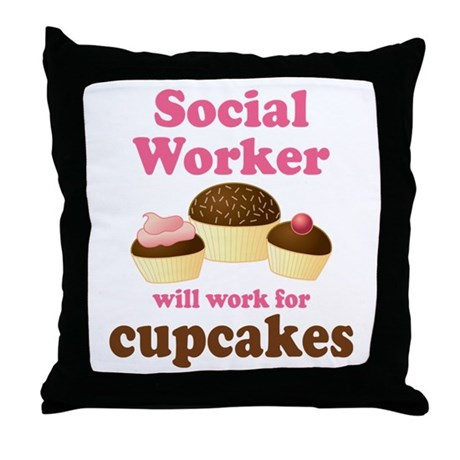 Funny Social Worker Throw Pillow