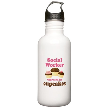 Funny Social Worker Stainless Water Bottle 1.0L