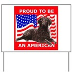 Curly Coat with flag Yard Sign