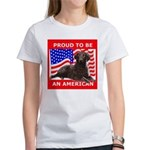 Curly Coat with flag Women's T-Shirt